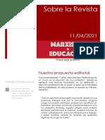 Presentación de la Revista Marxismo & Educación