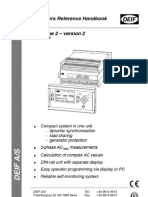 deif operating manual | Electric Generator | Alternating Current