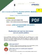 1° Sesion - Comunicación -ELECCIONES ASUNTO PUBLICO-