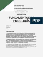 AÑO 1 - CUATRIMESTRE 1 - FUNDAMENTOS DE PSICOLOGÍA