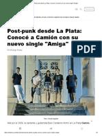 Post-punk desde La Plata_ Conocé a Camión con su nuevo single _Amiga__opt