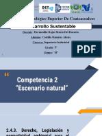2.4.3 Derecho, legislación y normatividad ambiental