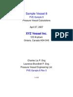 Pressure Vessel Sample Calculations