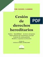 Nestor Lamber - Cesion de Derecho Hereditarios (2018)