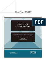 PRACTICA Y ESTRATEGIA. SOCIEDADES Y CONCURSOS. Balbin.pdf · versión 1