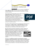 Worksheet explaining camera angles and editing