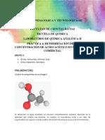 Practica 4. Determinacion de Acido Acetico en Vinagre Comercial