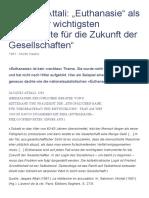 """Jacques Attali_ """"Euthanasie"""" als """"eines der wichtigsten Instrumente für die Zukunft der Gesellschaften"""" – Forum Naturrecht und Humanismus"""