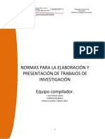 NORMAS PARA TRABAJOS DE INVESTIGACION  PNF ENFERMERIA UNEFM (1)