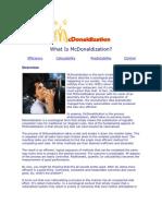 What Is McDonaldization