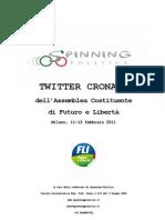 Twitter Cronaca dell'Assemblea Nazionale di Futuro e Libertà (FLI), Milano, 11-13 febbraio 2011 - by Spinning Politics