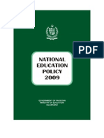 National education policy Pakistan