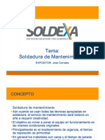 SOLDEXA- Soldadura de Mantenimiento