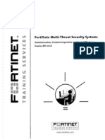FortiNet Training Services - FortiGate MultiThreat Security Systems Course 201 v4.0