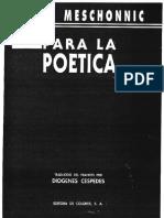 Henri Meschonnic. Para La Poética_opt