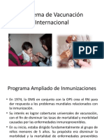 Esquema de Vacunación Internacional