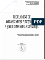 Regulament de Organizare Si Functionare SCOALA GIMNAZIALA STANCUTA 2017 2018