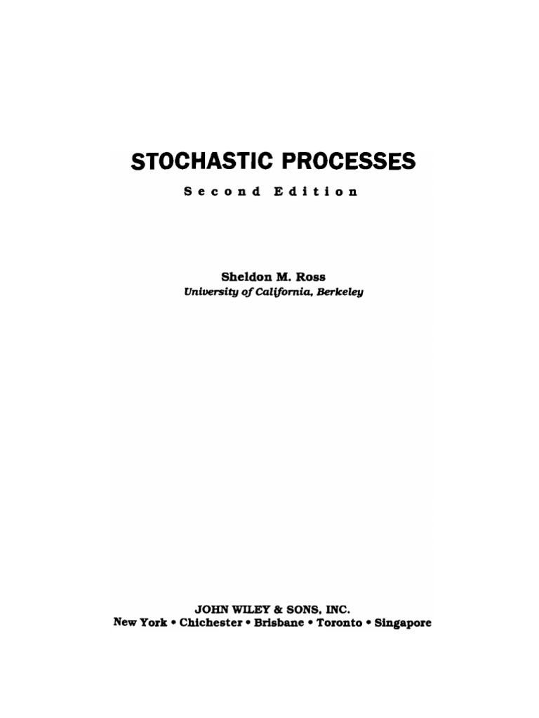 stochastic processes ross stochastic process markov chain rh es scribd com Stochastic Process PPT sheldon ross stochastic processes solution manual