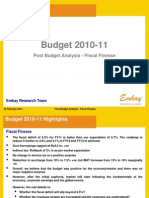 Budget 2010 - 11 Post Budget Analysis - Fiscal Finesse