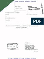 Memorandum of Law in Opposition to Plaintiff's MSJ. Docket Doc 29