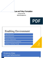 Media Law and Policy Formulation