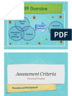 Personal Project Unpacking Assessment Criteria 2011