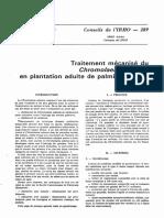 Traitement mécanisé du Chromolaena odorata en plantation adulte de palmiers à huile