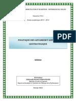 Syllabus_Cours Politique des Affaires et Gestion Stratégique