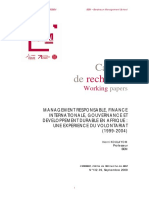 Responsabilité Globale- Afrique- Sup de co- Working Paper BEM