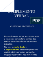 COMPLEMENTO VERBAL
