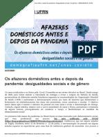 Os Afazeres Domésticos Antes e Depois Da Pandemia_ Desigualdades Sociais e de Gênero – DEMOGRAFIA _ UFRN