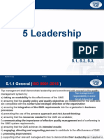 4. 5.0 Leadership
