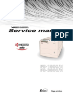 Kyocera FS-1800, 3800 Service Manual