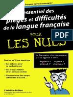 Essentiel Des Pièges Et Difficultés FrenchPDF