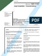 NBR 13734 - Roupa Hospitalar - Caracteristicas