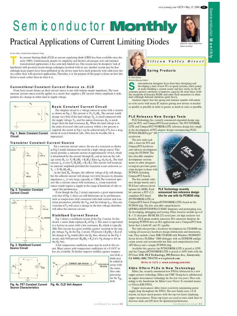 Cld Application Amplifier Field Effect Transistor Constant Current Source Circuit