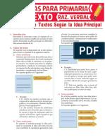 Clasificación-de-Textos-Según-la-Idea-Principal-para-Sexto-Grado-de-Primaria