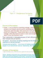 Topic 4 Interpersonal perception (1)