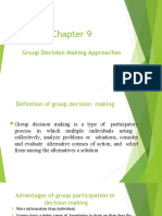 Chapter 9 (1) Group Decision making approaches (4)