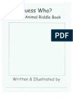 Zoo Animal Riddle Book
