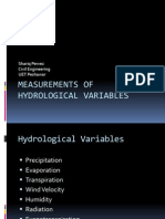 MEASUREMENTS OF HYDROLOGICAL VARIABLES
