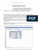 Word-Excel - tabelle dinamiche
