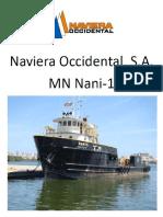 Nani-1 Ship Particulars Caracteristicas 21-3-2018