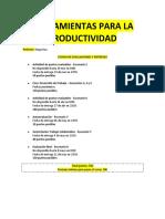 Herramientas Para La Productividad (Apuntes)