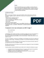 COMMENT CREER UNE ONG EN RDC