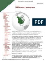 América Anglosajona y América Latina