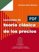 Lecciones de Teoría Clásica de Los Precios. Eduardo Bolaños (1)