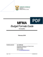 Budget Format MFMA Guidelines 2011-12