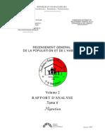 Recensement général de la population et de l'habitat - Migration (INSTAT/1997)