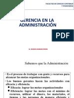 3. El Gerente y La Administración